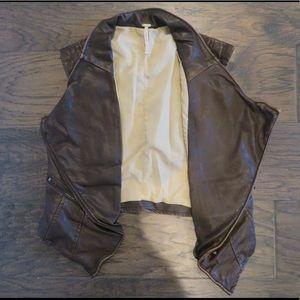 Free people brown leather vest